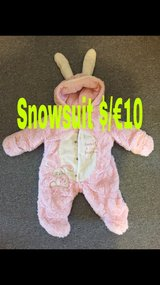 Newborn pink snow suit in Baumholder, GE