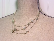 "NWT accents Lane Bryant 18"" Bead Tier Strands Silver Tone Necklace Chain in Kingwood, Texas"