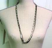 "NWT Silver Tone Chain Link 30"" Long Statement Pendant Multi Strand Bib Statement in Kingwood, Texas"