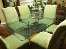 Glass Table with six chairs in Fort Sam Houston, Texas
