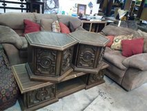 antique coffee table and end tables in Warner Robins, Georgia