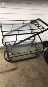 2layers metal base glass tops cart in Aurora, Illinois