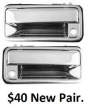 New-Pair-Set-Outside-Outer-Front-Door-Handle-Chrome-Chevy-GMC-Pickup-Truck-SUV in Barstow, California