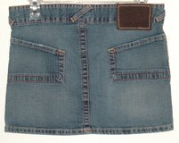 Von Dutch Double-Button Waist Denim Jean Mini Skirt Womens Small 4 6 in Joliet, Illinois
