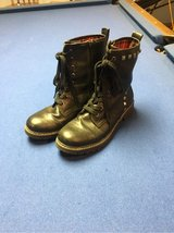Women's size 8 1/2 black combat boots in Naperville, Illinois