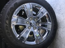 "20"" GMC/Chevy Truck Chrome Rims & Tires in Fort Bragg, North Carolina"