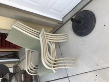Outdoor patio umbrella stand holder in Oceanside, California