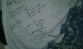Autographed flag ww2 Korean vets in Cherry Point, North Carolina