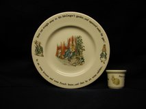 Beatrix Potter Wedgewood Fine Porcelain child's plate and egg cup in Ramstein, Germany