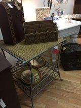 Table - Wrought Iron/Rattan in Fort Campbell, Kentucky