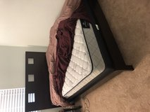 Queen bed frame, box spring and mattress in Temecula, California