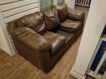 Leather Couch Missing One Cushion! in Macon, Georgia