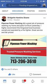 New home for Spring! Pressure washing services in Kingwood, Texas