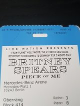 2 Britney Spears Concert Tickets 6th of August, Berlin in Ramstein, Germany