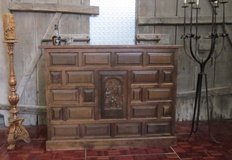 Spanish Style Solid Wood Bar with Carvings in Ramstein, Germany