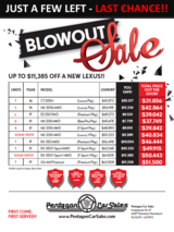 LEXUS BLOWOUT SALE UPDATE in Shape, Belgium