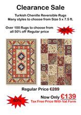 Turkish Chenille Rug Clearance Sale! in Spangdahlem, Germany