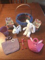 Nine Easter items- baskets, small pails/boxes, stuffed bunnies, purses in Perry, Georgia