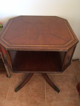 antique octagonal table in San Diego, California
