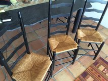 set of 8 high back wood chairs in San Diego, California