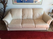 cream color leather sofa - excellent condition in San Diego, California