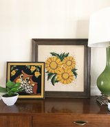 Cute sunflower picture professionally framed in Travis AFB, California