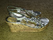 Girls silver wedges size 3 in Okinawa, Japan