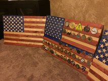 Rustic flags in Fort Leonard Wood, Missouri
