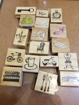 Lot of 30 rubber stamps in Tinley Park, Illinois