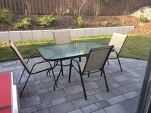 Like New Outdoor Patio Table Set - 4 chairs in Ramstein, Germany