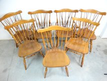 Set of 6 Early American Maple Dining Chairs in Pearland, Texas