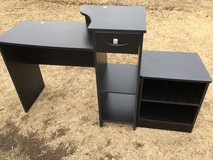 "2 piece desk 41x19.5"" 33"" tall (desk) table 18x16"" 21"" tall in Fort Riley, Kansas"