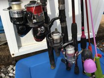 Fishing poles in Fort Campbell, Kentucky