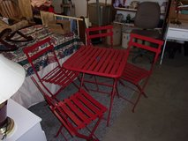 Red Metal Table and Chairs Set in Fort Riley, Kansas