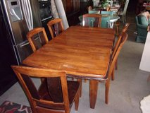 Solid Wooden Table and Six Chairs Set in Fort Riley, Kansas