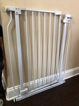 Tall baby gate with extender in Fort Campbell, Kentucky