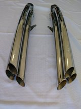 Cobra chrome exhaust pipes for Honda Goldwing F6B in Conroe, Texas