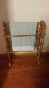 small wooden quilt rack in Alamogordo, New Mexico
