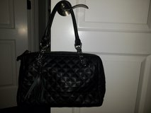 Black Quilted Leather Calvin Klein Handbag in Naperville, Illinois