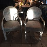 Wicker Chairs (set of two -White (real wicker) in Fort Leonard Wood, Missouri