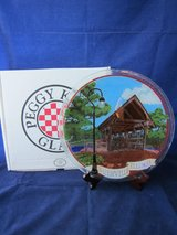 PEGGY KARR GLASS ART Covered Bridge Naperville Illinois NEW in BOX in Naperville, Illinois