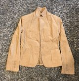 Cream colored fitted jacket in Okinawa, Japan