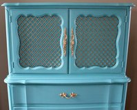 Reduced! Shabby chic dresser chest armoire in Camp Lejeune, North Carolina