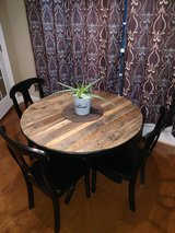Repurposed wood table and chairs in Columbus, Georgia
