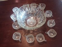 Genuine Crystal Punch Bowl Set in Ottumwa, Iowa