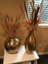 Two large gold vases in Naperville, Illinois