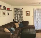 Like new microfiber sectional, ottoman, and rug in DeRidder, Louisiana