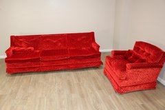 Retro Sofa Set (Red) in CyFair, Texas