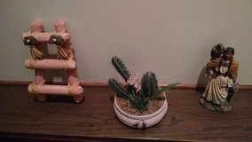 Southwestern Decor - Kiva Ladder, Potted Artificial Flower/Plant, Indian Squaw Figurine in Joliet, Illinois