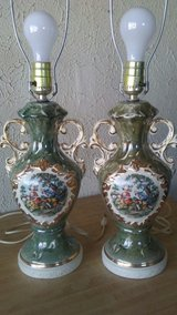 vintage1940s porcelain colonial urn lamps in Yucca Valley, California